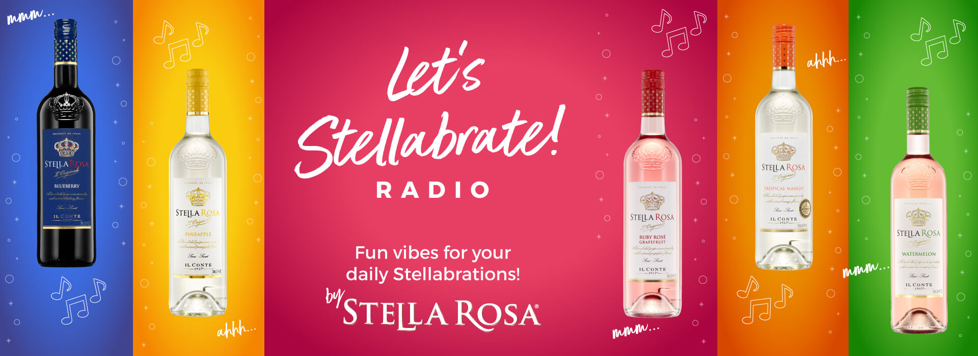 Let's Stellabrate! Radio. Fun vibes for your daily Stellabrations! By Stella Rosa®